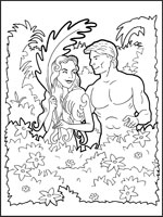 adam and eve coloring in adam and eve colour picture - Adam Eve Bible Coloring Pages