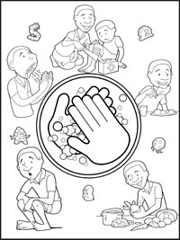 wash your hands coloring page - soap kills germs coloring page coloring pages