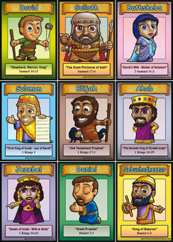 graphic about Printable Bible Characters called Free of charge Printable Bible Card Online games.